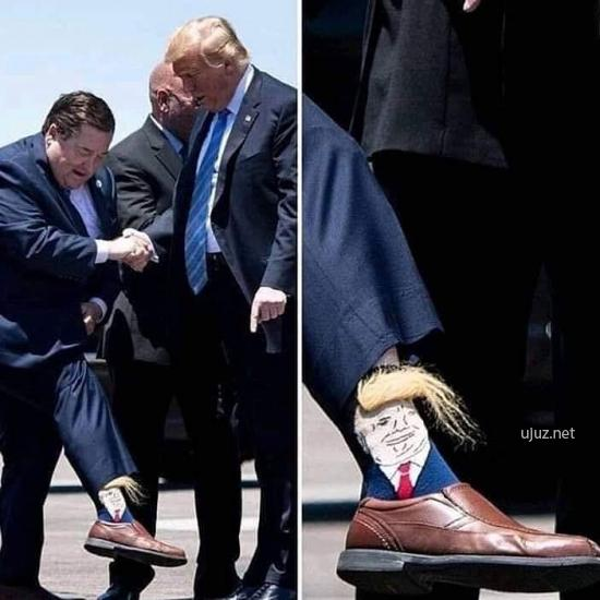 Trump Saç detaylı çorap