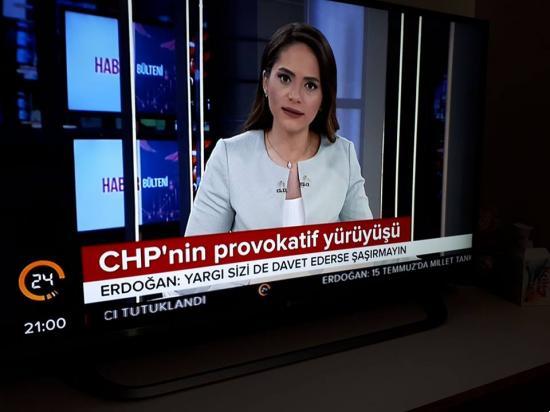 CHP' nin Adalet Yürüyüşüne Kadir Topbaş' ın Kanalı olan 24' ün Provakatif Yürüyüş Yakıştırması yapması.
