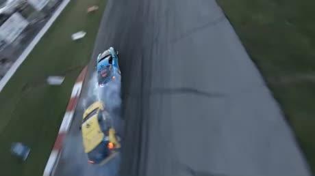 gerçek yarışın drone ile çekilmiş hali oyun gibi